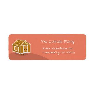 Gingerbread House | Return Address Label