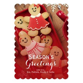 Gingerbread men 13 cm x 18 cm invitation card