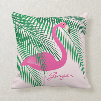 Ginger's Pink Flamingo Pillow
