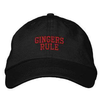 Gingers Rule Embroidered Baseball Caps