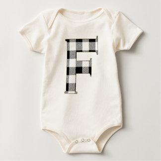 Gingham Check F Baby Bodysuit