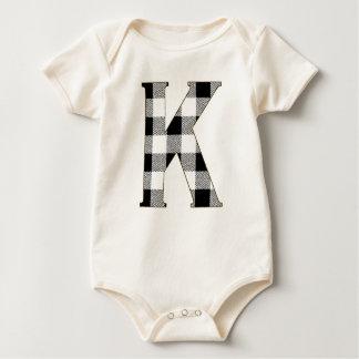 Gingham Check K Baby Bodysuit