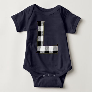 Gingham Check L Baby Bodysuit