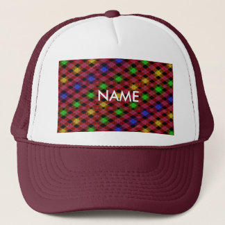 Gingham Check Multicolored Pattern Trucker Hat