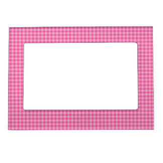 Gingham Style Magnetic Picture Frame