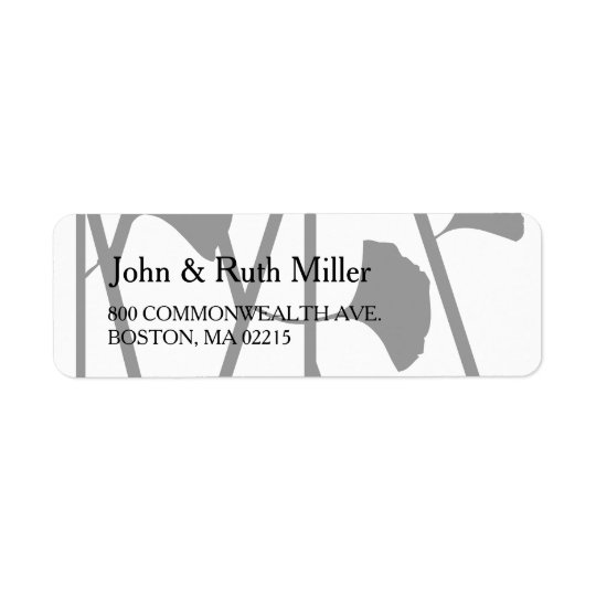 Ginkgo 2 Floral Pattern Return Address Labels