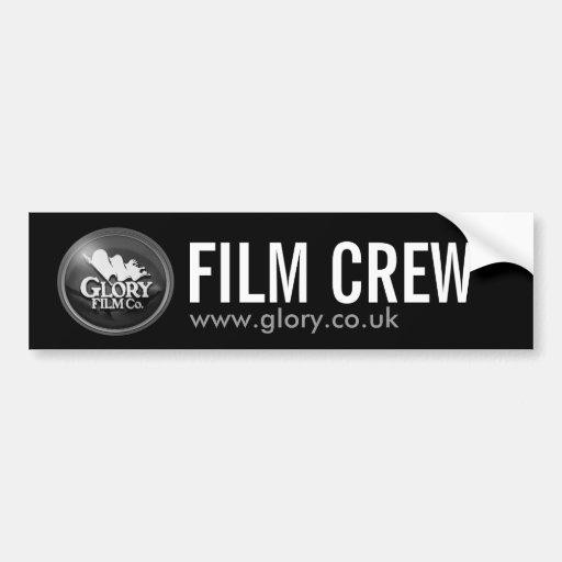GIory FILM CREW  BLACK Bumper Sticker
