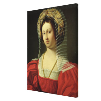 Giovanna I  Queen of Naples, 1842 Canvas Print