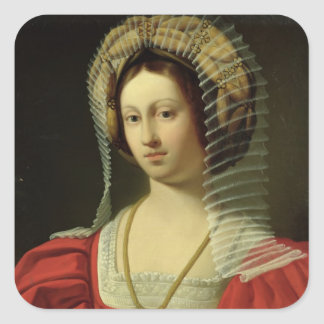 Giovanna I  Queen of Naples, 1842 Square Sticker