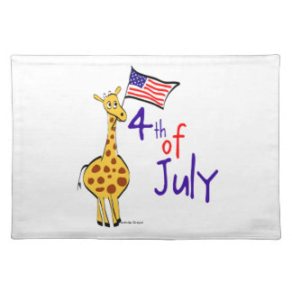 Giraffe 4th of July Placemat