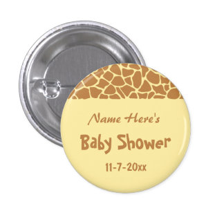 Giraffe Baby Shower Pins