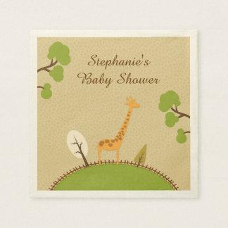 Giraffe Baby Shower Disposable Serviette