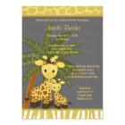 Giraffe Baby Shower Invitation Mummy Grey Yellow