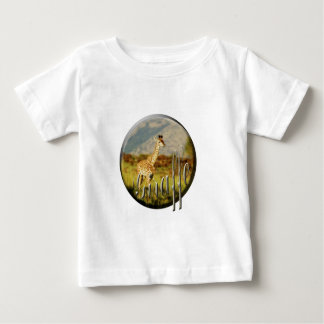 Giraffe baby wildlife safari children's t-shirts