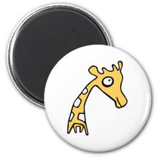 Giraffe cool illustration 6 cm round magnet