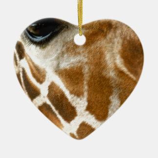 Giraffe Face | Wild Animals Nature Photo Christmas Ornament