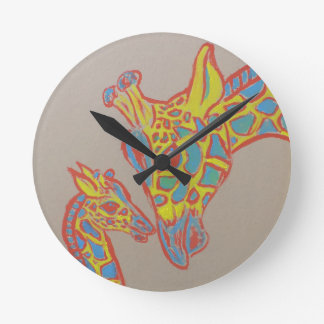 Giraffe Family Wallclocks
