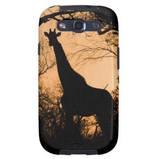 Giraffe (Giraffa camelopardalis) silhouette Samsung Galaxy SIII Covers