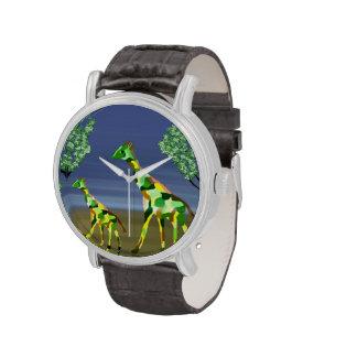 Giraffe Habitat Wristwatches