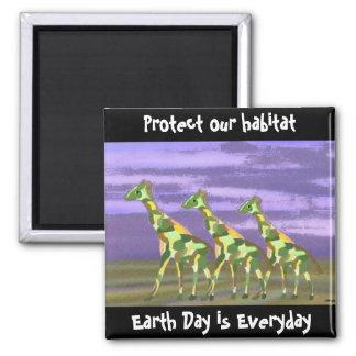 Giraffe habitat Magnet