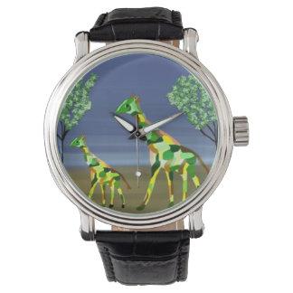 Giraffe Habitat Wrist Watch