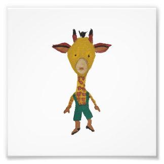 Giraffe Jungle Friends Baby Animal Water Color Photograph
