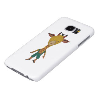 Giraffe Jungle Friends Baby Animal Water Color Samsung Galaxy S6 Cases