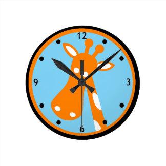 Giraffe kids wall clock