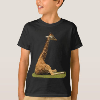 Giraffe on Grass T-Shirt