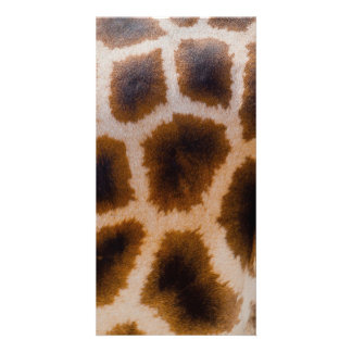 Giraffe Patches Spotted Skin Texture Template Personalised Photo Card