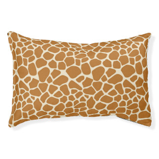 Giraffe Pattern Dog Bed