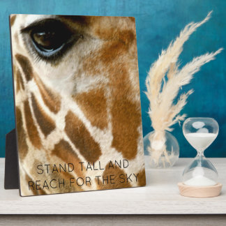 Giraffe Photo Wild Animals | Inspirational Quotes Plaque