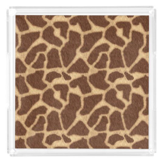 Giraffe Print Acrylic Tray