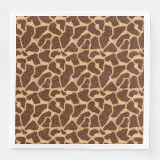 Giraffe Print Disposable Serviette