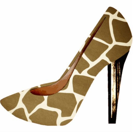 Giraffe Print Fashion Shoe 3D Acrylic Ornament Acrylic Cut Out