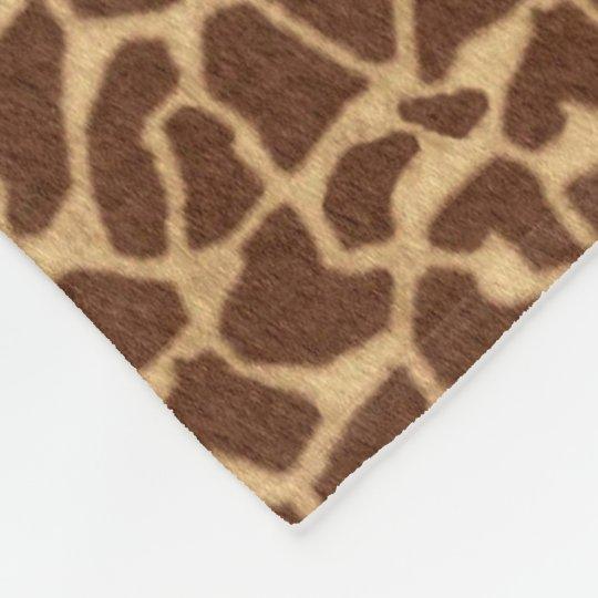 Giraffe Print Fleece Blanket