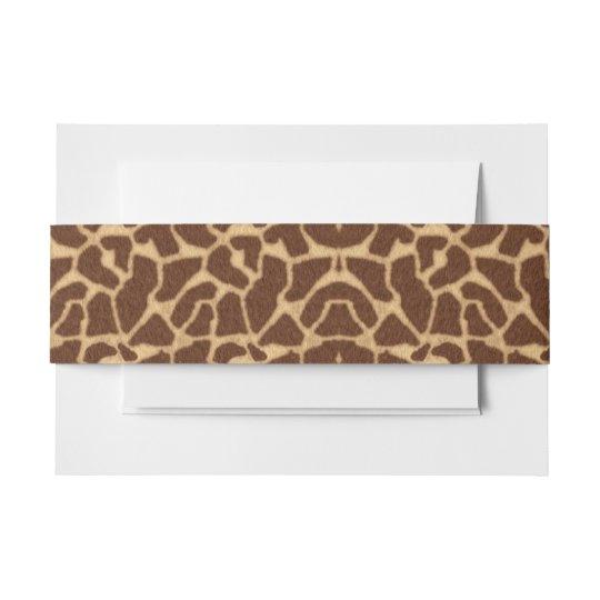 Giraffe Print Invitation Belly Band