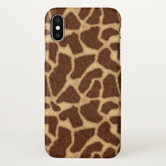 Giraffe Print iPhone X Case