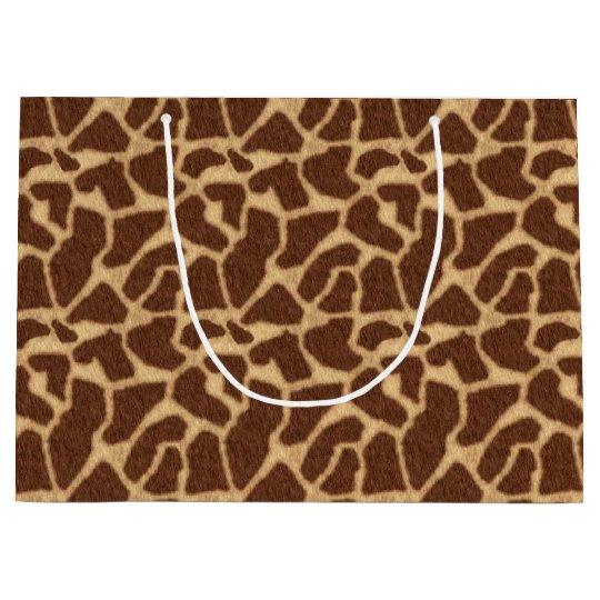 Giraffe Print Large Gift Bag