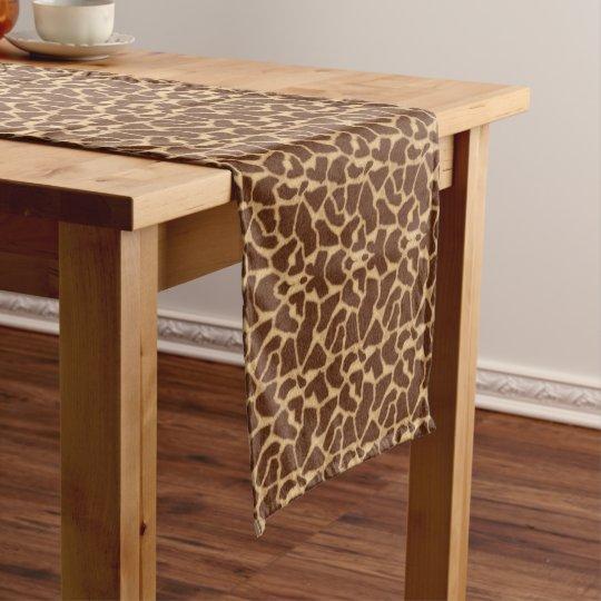 Giraffe Print Long Table Runner