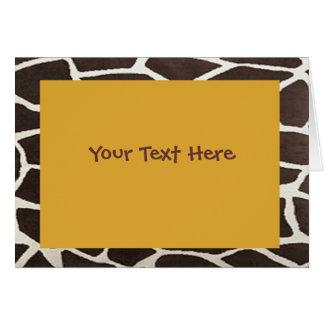 Giraffe Print Party Invitation Card