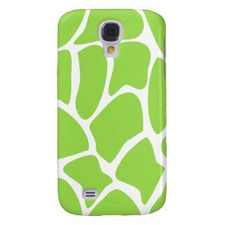 Giraffe Print Pattern in Lime Green. Galaxy S4 Case