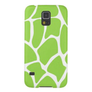 Giraffe Print Pattern in Lime Green. Galaxy S5 Cover