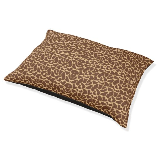 Giraffe Print Pet Bed