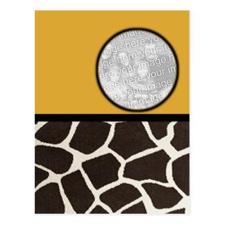 Giraffe Print Photo Frame Postcard