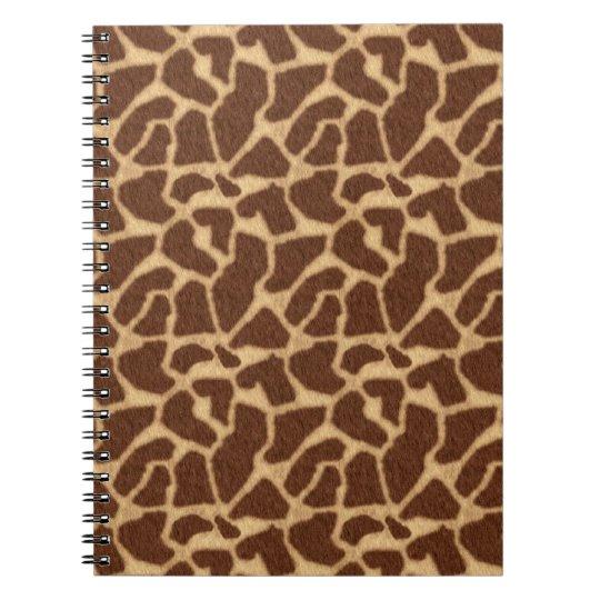 Giraffe Print Spiral Notebook