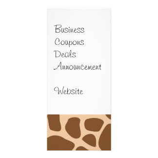 Giraffe Print Wild Animal Patterns Gifts for Her Personalised Rack Card