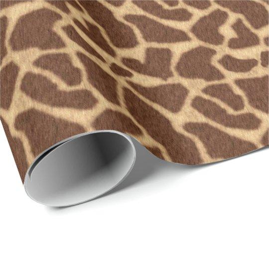 Giraffe Print Wrapping Paper