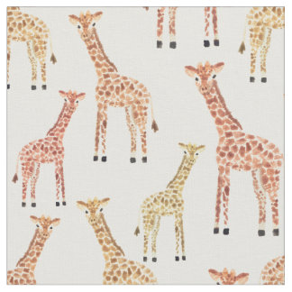 Giraffe Safari Print Fabric