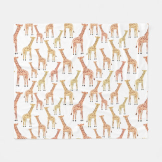 Giraffe Safari Print Fleece Blanket